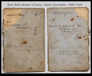 Rent Book Michael O'Leary Mount Scartaglin 1852-1876