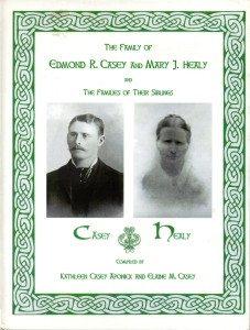 Casey/Healy Ancestral Book. Ellen Fleming married into Beenatavaun to Charles Brien in 1838.