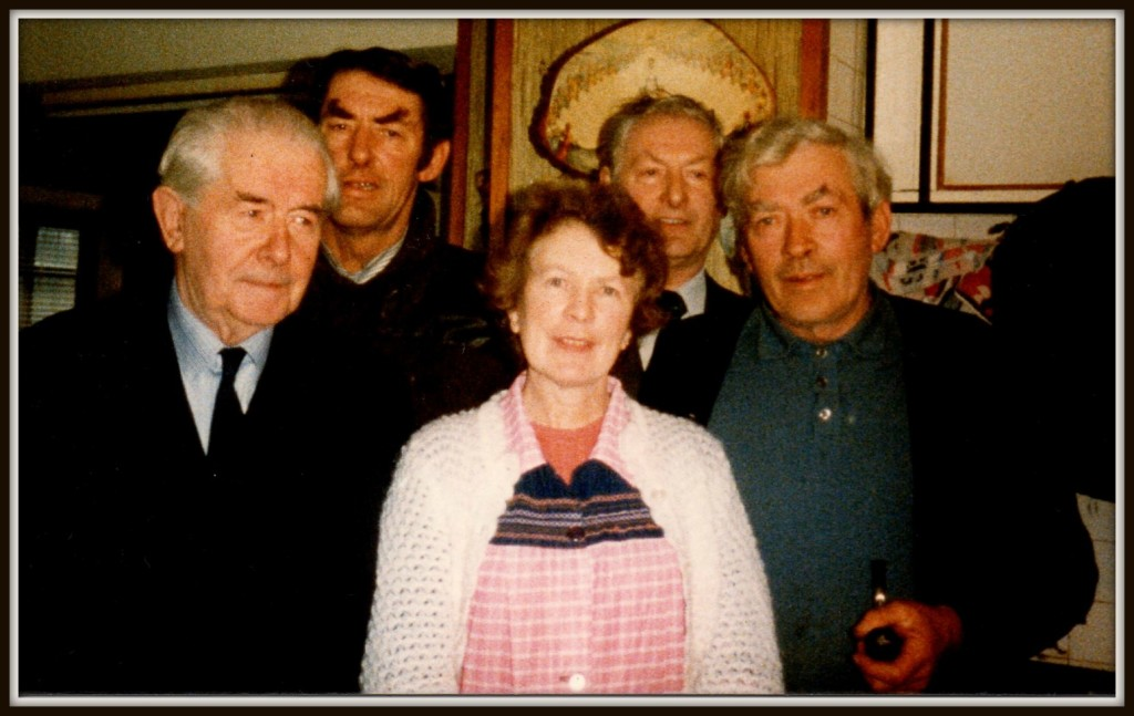Jerry Daly, Jim, John & Patsy Fleming with Nora-Mai - at the Farrankeal Homestead.
